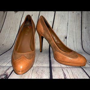 Lauren by Ralph Lauren Tan Karen heel, Size 9.5